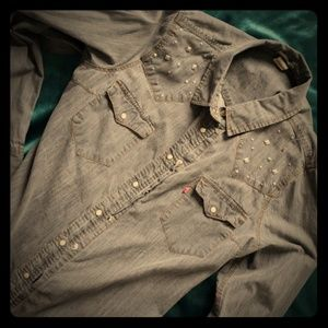 Levi's Gray Denim Shirt